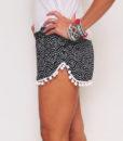 Bohemian Pom Pom Elastic Shorts (2)