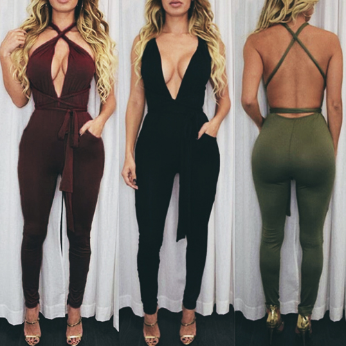 Convertible Wrap Jumpsuit with Pockets
