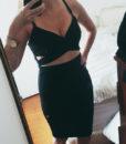 Cutout Bodycon Wrap Dress (2)