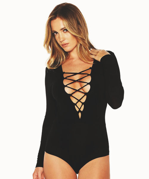 Lace Up Front Body Suit
