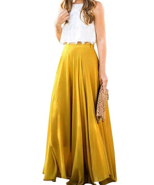 apricot maxi skirt 1