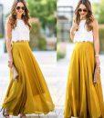 apricot maxi skirt 2