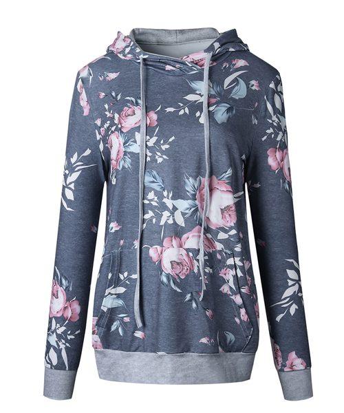 floral pocket hoodie 1