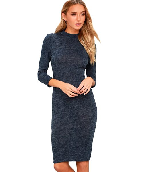 mock neck sweater dress 1